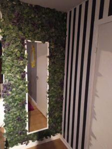 Plantevæg IKEA Fejka og stribet tapet